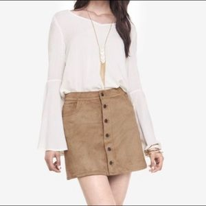 Express jeans tan suede mini skirt